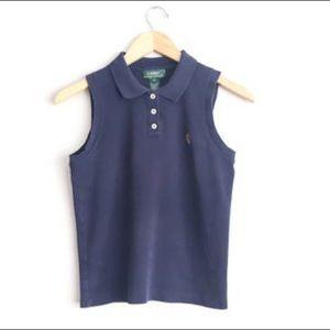 Sleeveless Kids Polo Ralph Lauren shirt
